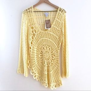 SOFT SURROUNDINGS Asymmetrical Crochet Tunic NWT